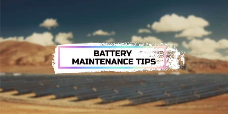 Battery Maintenance Tips for Your Deep Cycle Batteries