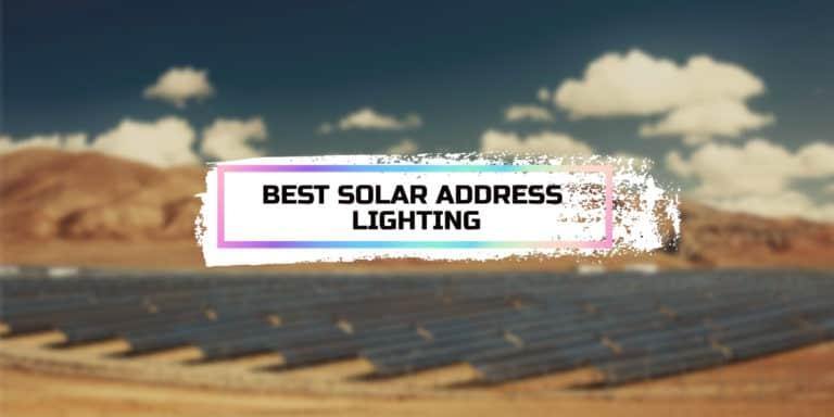 Best Solar Address Lighting
