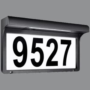 Leidrail House Number Solar Address Light