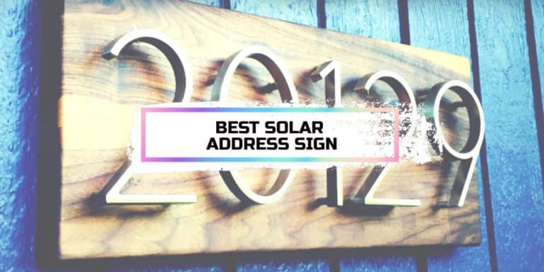 Best Solar Address Sign